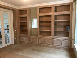 Klassieke inbouw bibliotheek op maat